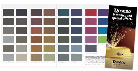 paint colors nz resene metallics together in new colour chart eboss