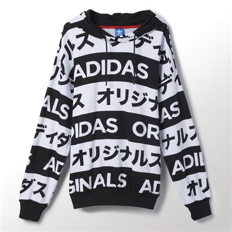 adidas originals typo black white hoodie drawstring womens japanese 6 22 ebay