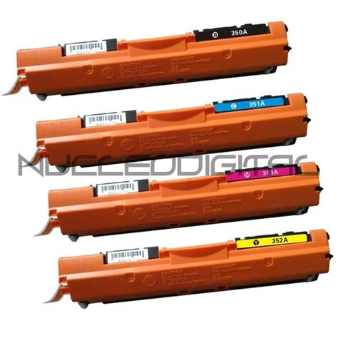 Toner Hp Cf350 Cf353 Colour Compatible pack 4 toner compatibles para impresora hp laserjet pro color mfp m176 130a ebay