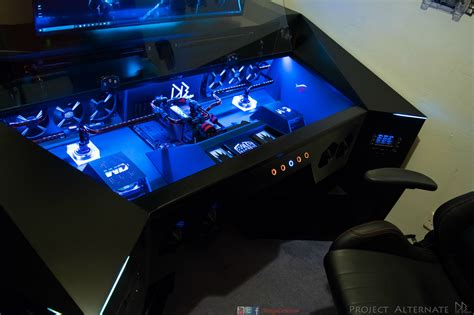 customize a pc redditor builds amazing 4k gaming pc inside his desk speed up my pc free