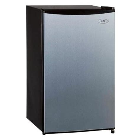 spt 3 3 cu ft mini refrigerator in stainless steel