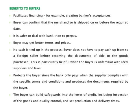 Supplier Letter Of Credit Letter Of Credit