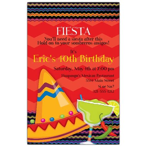 fiesta fun birthday invitations paperstyle