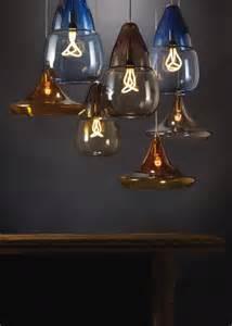 Hand blown transparent glass pendant lights designshell