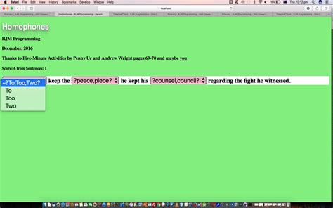 tutorial javascript in html html javascript homophones game tutorial robert james