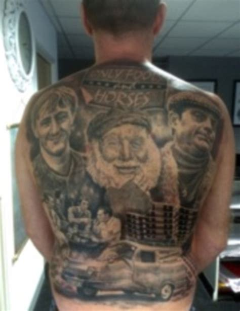 back tattoo hours only fools and horses fan spends 50 hours getting massive