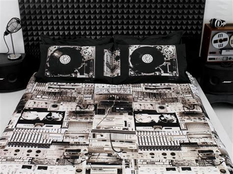 music bed sheets turntable bedding cool material