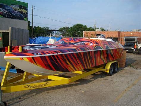 installing vinyl wrap on boat custom boat wrap designs decals lettering cost design