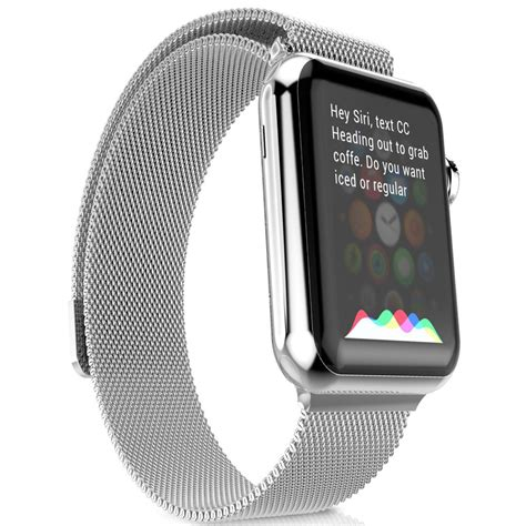 Stuff Apple 42mm Hoco 3 Pointer Style Stainless Steel Band hoco milanese loop band apple 42mm silver