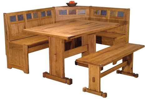 Nook Dining Table Set Breakfast Nook Set Rustic Oak Breakfast Nook Breakfast Nook