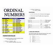 Ordinal Numbers And Telling The Time
