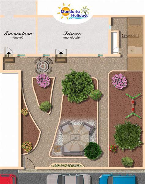 planimetria giardino ferienapartments apulien ferienwohnungen manduria