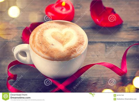 valentines day coffee drinks s day coffee with on foam stock photo