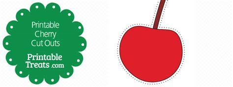 cherry template printable cherry printable treats