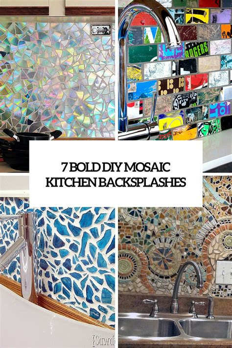 kitchen with mosaic backsplash 7 and bold diy mosaic kitchen backsplashes shelterness