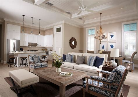 Coastal Inspired Living Rooms by Bent Palms