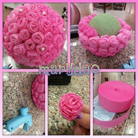 Flower ball DIY center piece decoration   Craft   Diy
