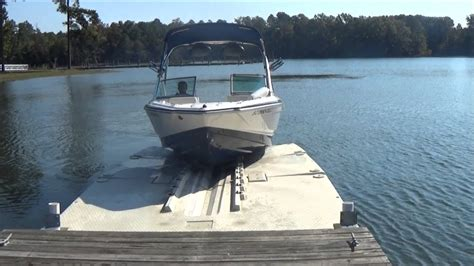floating boat dock pics floating boat dock drive on boat lift 5000 lb lift youtube