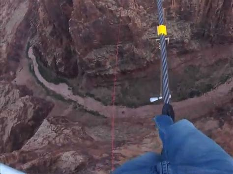 tight rope skywire pictures nik wallenda crosses grand