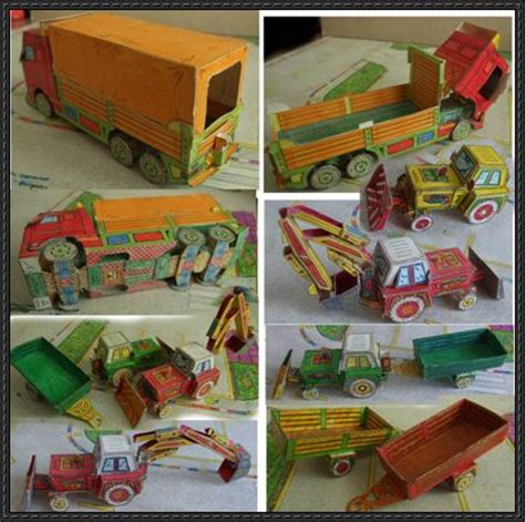 Origami Tractor - lots of construction vehicles tractors and buses free