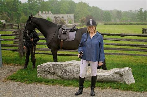 Martha Stewart Rides A Stallion by Folk At Home Martha Stewart S Stables In Katonah