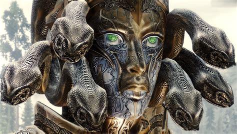 fantasy art mask medusa  elder scrolls  skyrim