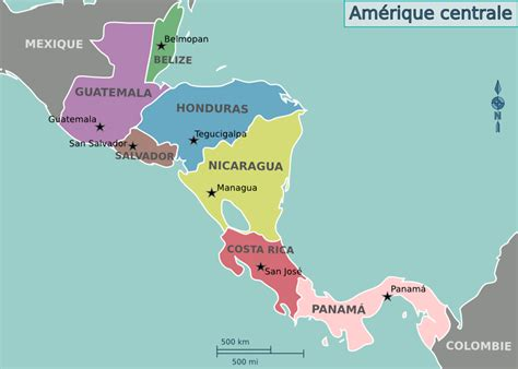 central map central america map printable blank images