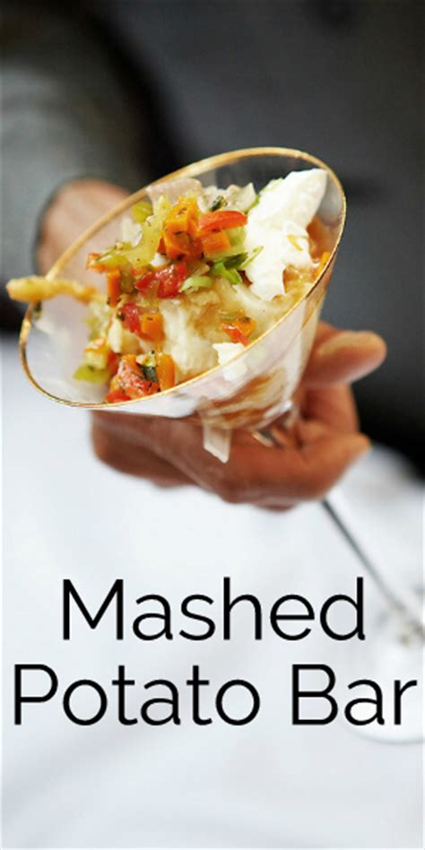 Mashed Potato Martini Bar Toppings by Easy Entertaining Mashed Potato Bar Blissfully Domestic