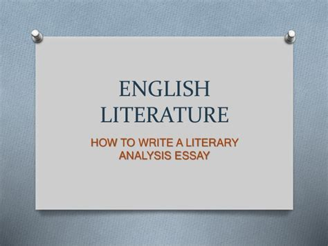 How To Write A Lit Essay by Literature How To Write A Literary Analysis Essay