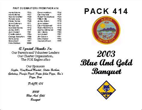 blue  gold banquet  cub scout pack