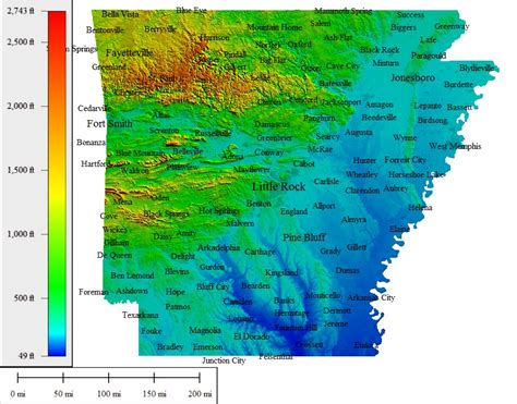 south louisiana elevation map topocreator create and print your own color shaded