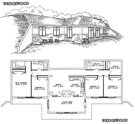 berm house floor plans pinterest