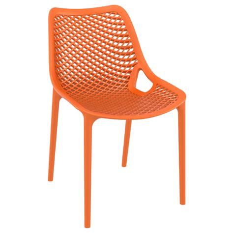 orange dining chairs air outdoor dining chair orange isp014 cozydays