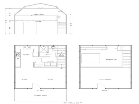 loft blueprints gambrel barn homes floor plans gambrel barn house plans