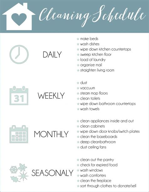 30 day house cleaning plan house cleaning plan numberedtype