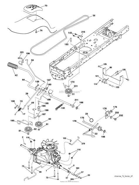 husqvarna yth    parts diagram  drive