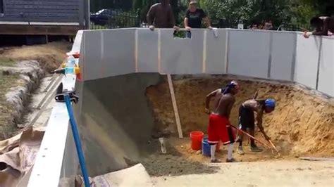 radiant  ground pool installation youtube