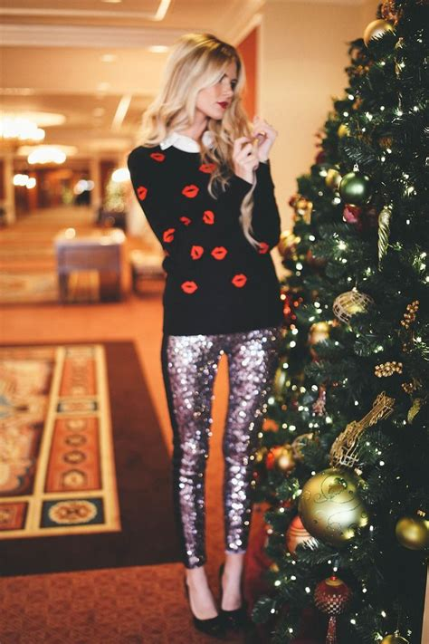 sequins sweater christmas holiday closetful of clothes