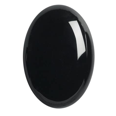 black onyx 25 x 18mm oval high dome cabochon