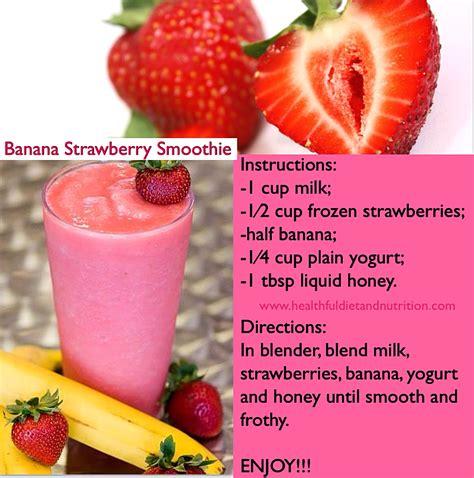 Strawberry Banana Smoothies   Dark Brown Hairs
