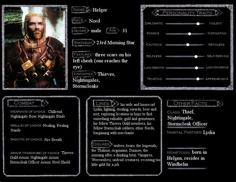 skyrim character templates skyrim character sheet helgor by dionysie on deviantart
