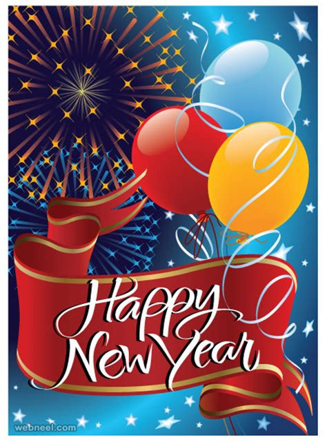 new year greeting card design 30 beautiful new year greetings card designs for your