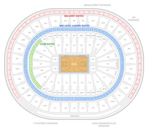 fargo center philadelphia seating chart philadelphia 76ers suite rentals fargo center