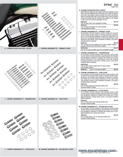 Harley Davidson Parts Catalog by Harley Davidson Accessories Spare Part Catalog