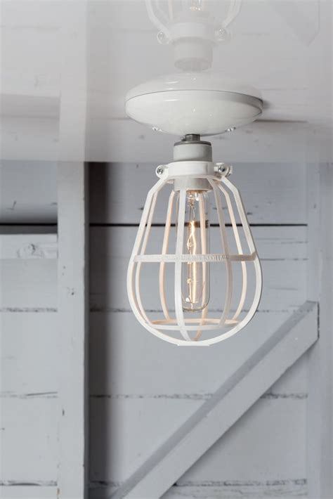 Industrial Filament Bulb Ceiling Mount Light Fixture Modern Farmhouse Style Jefferson 6in by Modern Cage Light Ceiling Mount Industrial Light Electric Crafted Lighting Made To