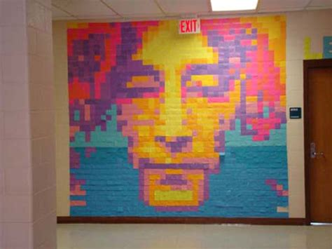 apex high school sticky note murals for paper