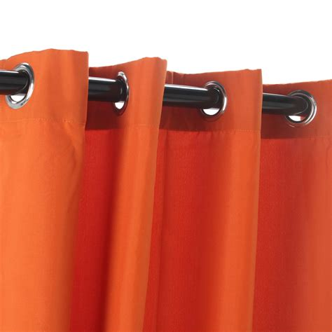 orange outdoor curtains orange polyester outdoor curtains with grommets dfohome