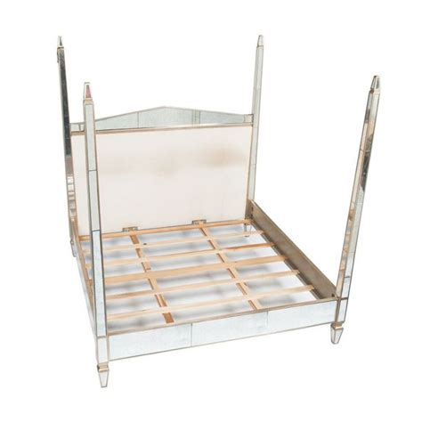 mirrored king bed with upholstered headboard retail