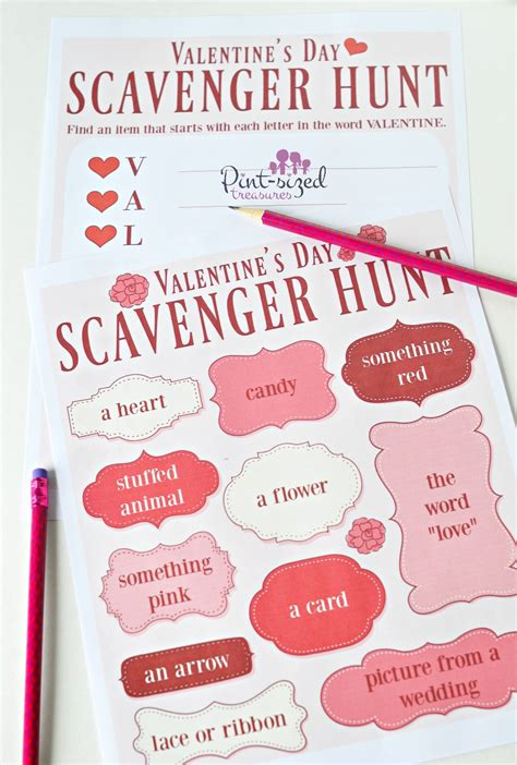 valentines treasure hunt s day scavenger hunt with printables 183 pint