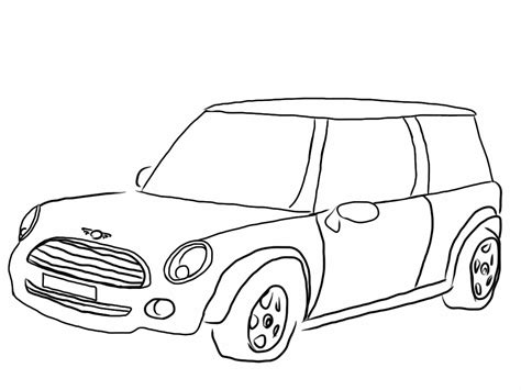 mini car coloring page mini cooper coloring pages coloring home